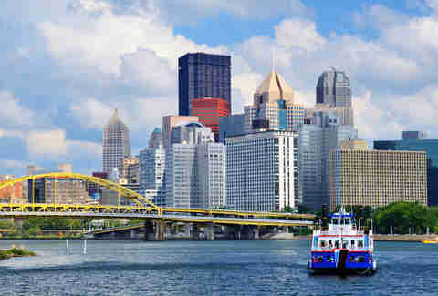 pittsburgh downtown cityscape skyline