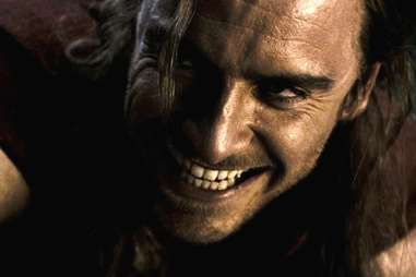 Fassbender smiling really creepily in 300 the movie
