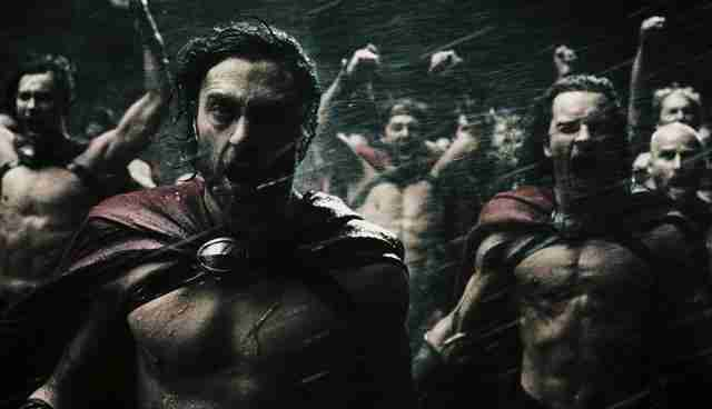 Angry people in 300 movie