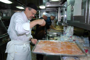 submarine chef seasoning chicken