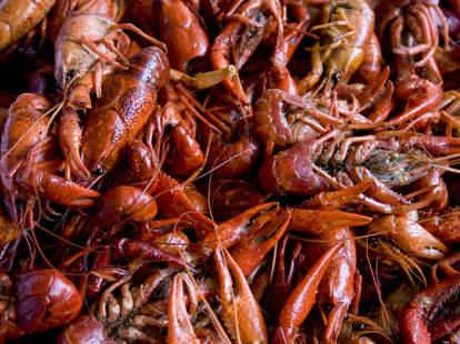 Lobsters at Kickin Kajun