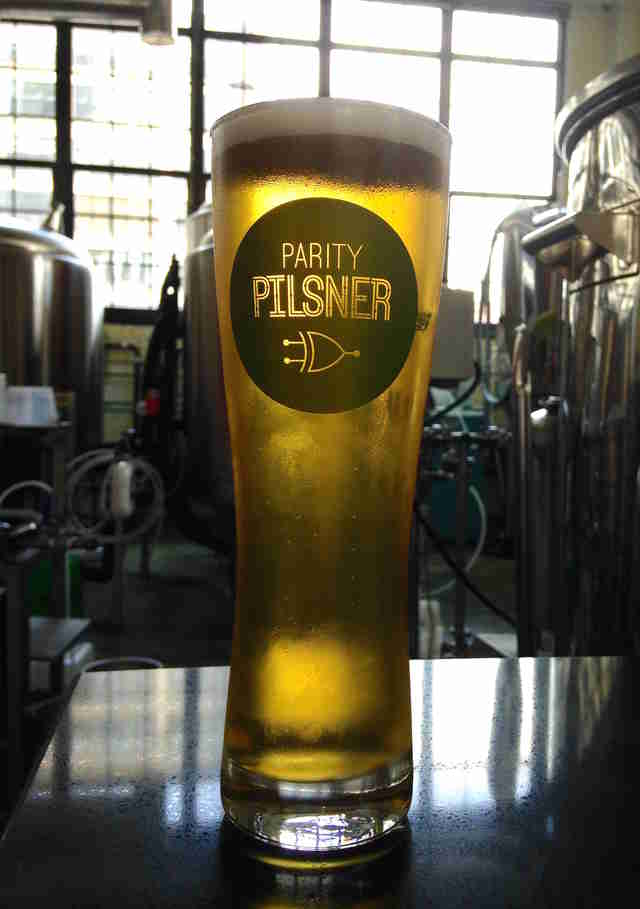 Tin Whiskers Brewing Co., parity pilsner