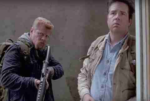 Michael Cudlitz as Abraham Ford and Josh McDermitt as Eugene Porter in AMC The Walking Dead