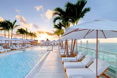 Rooftop pool at The 1 Hotel Miami