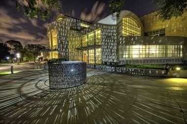 University of Houston library sculpture art installation