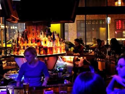 The Park Bar Detroit interior mi round bar