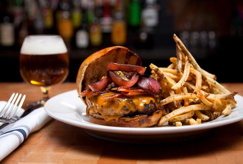 Chop Shop fries butcher's burger beer chicago sandwich