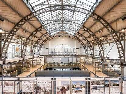 Pavillon de l'Arsenal interior exhibit paris fr