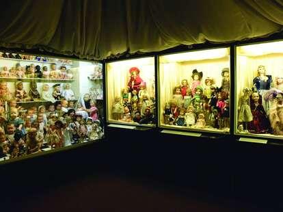Musée de la Poupée glass cases paris france