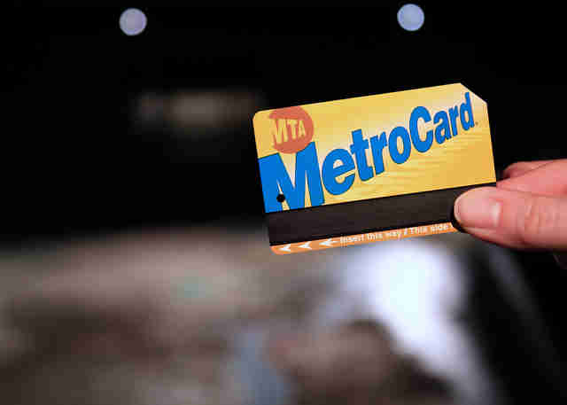 New York City MTA subway metrocard