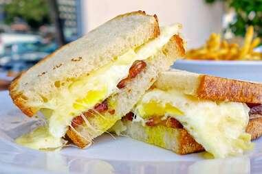 fried egg sandwich from BLD