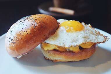 white trash breakfast sandwich at republique