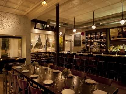 Lula Cafe interior dark wood