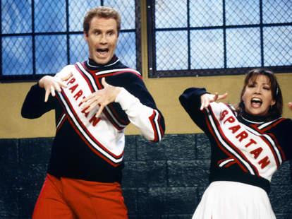 Will Ferrell and Cheri Oteri as Spartan Cheerleaders on SNL