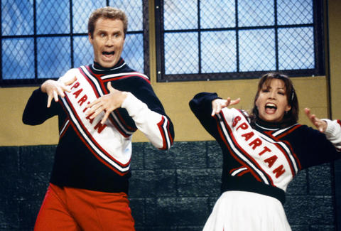 Will Ferrell and Cheri Oteri as Spartan Cheerleaders on SNL