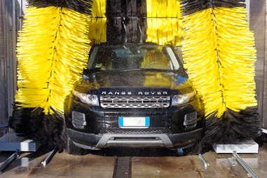 range rover in car wash