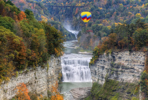 Letchworth State Park, hot air balloon