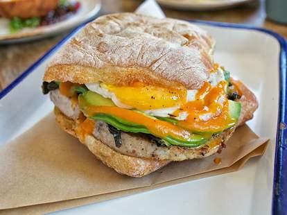 breakfast sandwich at Playa Provisions