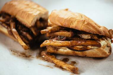 pop's poboys french fry poboy