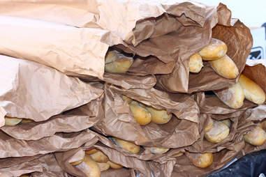 loaves of po'boy bread