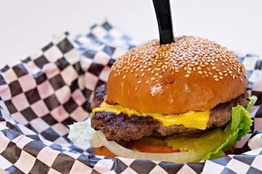 Stanton's City Bites cheeseburger