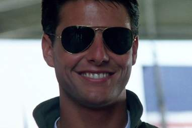 Aviator sunglasses in Top Gun