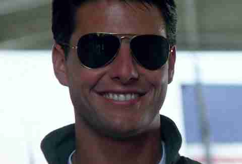 Aviator sunglasses in Top Gun