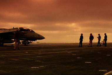 crew and plane in Top Gun
