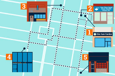 illustration of philadelphia walkable dumpling map