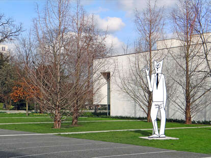 smoking museum paris france statue cartoon outdoor