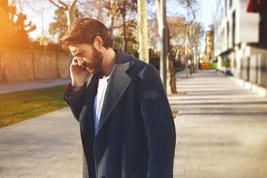 a man on the phone chivalry dating
