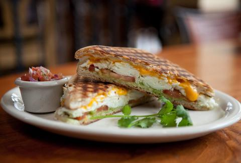 Coral Tree Cafe brunch sandwich egg mozzarella