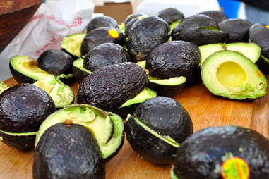 Cut up avocados