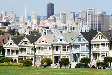 painted ladies san francisco skyline