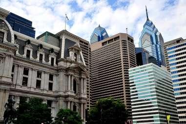 philadelphia skyline city architecture