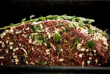 seasoned beef, Italian beef