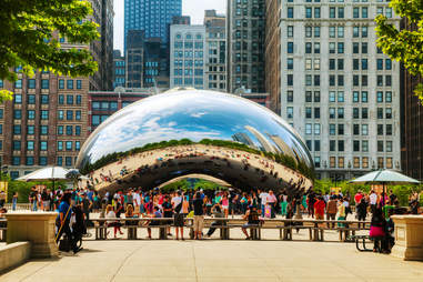 The Bean's reflection in Chicago