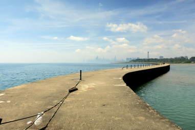 Montrose Point Chicago dock