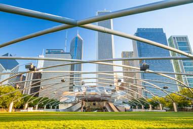 Millennium Park lawn Chicago