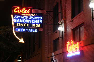 Cole's French Dip sandwich exterior in Los Angeles