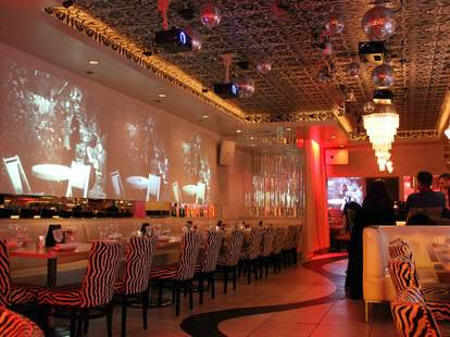 Kit Kat Lounge and Supper Club interior zebra chairs chicago