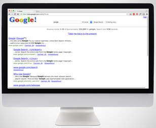 screenshot of Google in 1998