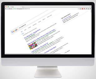 screenshot of google barrel roll