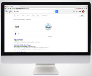 flip a coin google screenshot