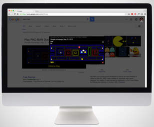 screenshot of pac-man google doodle