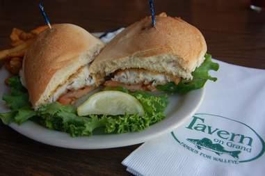 Tavern on Grand Minneapolis, Walleye sandwich