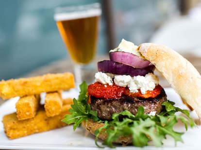 burger at Good Restaurant in new york city