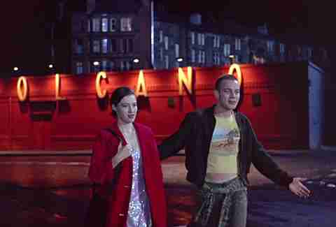ewan mcgregor as renton and kelly macdonald as diane in trainspotting