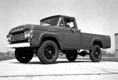 Ford F-100's first 4WD truck was in 1959