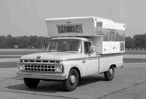 Ford offered camper-ready trucks in the 1960s